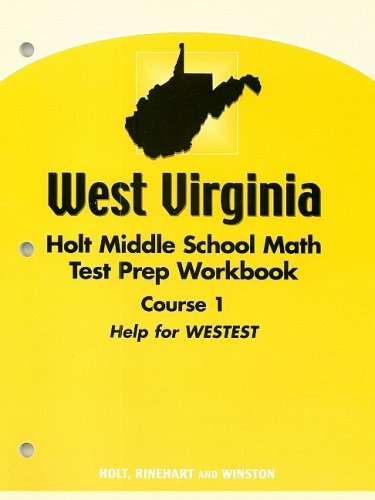 9780030396847: Holt Mathematics West Virginia: Test Prep Workbook Course 1