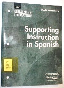 9780030397431: Elements of Literature: Supporting Instruction in Spanish