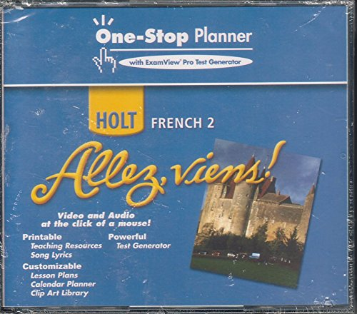 9780030397639: Allez, viens!, Level 2 - One-Stop Planner CD-ROM