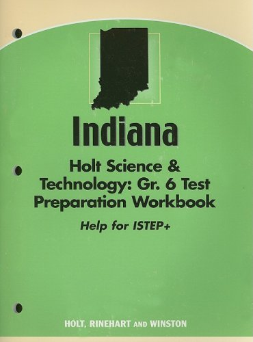 9780030397837: Holt Science and Technology Indiana: ISTEP Test Prep Workbook Grade 6