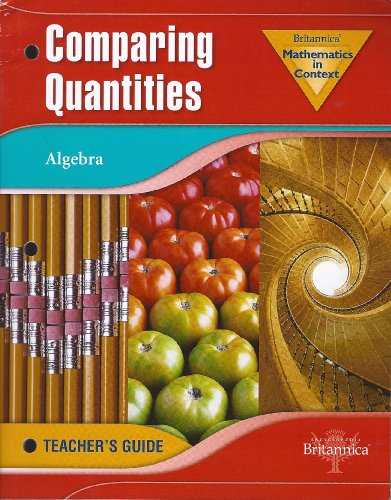 9780030398124: Holt Math in Context: Comparing Quantities Teachers Guide Grade 6