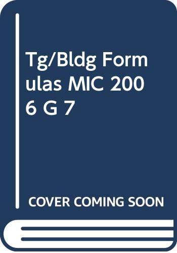 9780030398223: Tg/Bldg Formulas MIC 2006 G 7