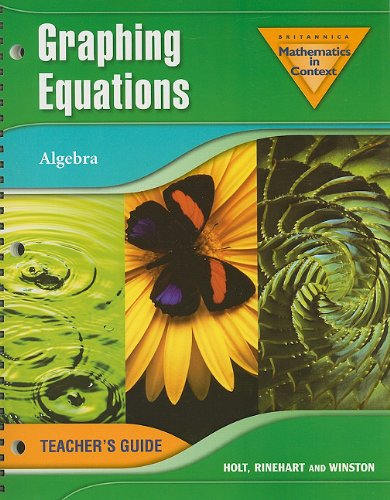 9780030398377: Holt Math in Context: Graphing Equations Teachers Guide Grade 8