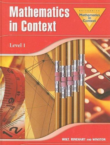 9780030403743: Mathematics In Context, Level 1