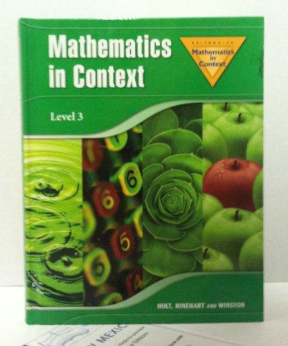 9780030403781: Mathematics In Context, Level 3