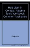 9780030403873: Holt Math in Context: Algebra Tools Workbook Common Ancillaries