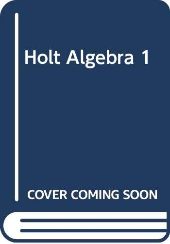9780030404245: Holt Algebra 1