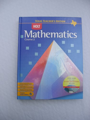 9780030411540: Holt Mathematics Course 2, Texas Teacher's Edition