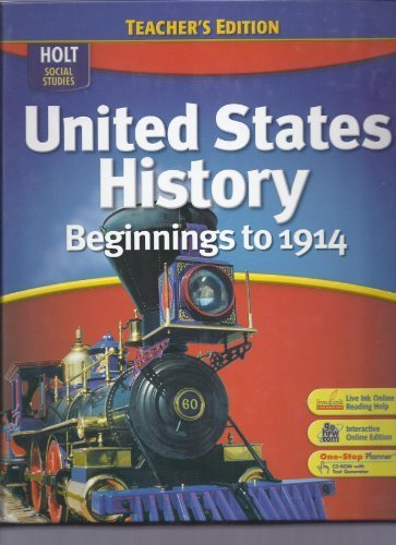 9780030412233: United States History: Teacher Edition Beginnings to 1914 2007