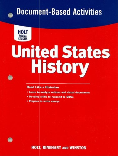 9780030412370: United States History: Document-Based Question Activities