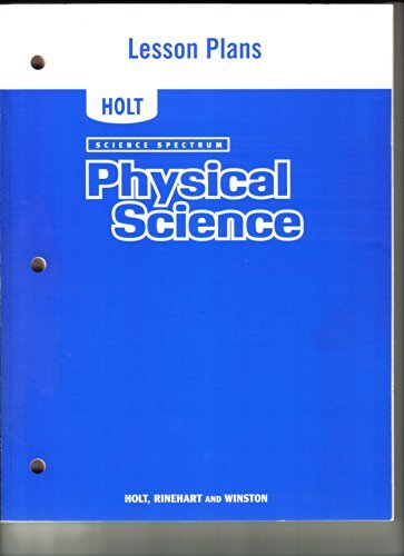 9780030412882: Physical Science: Lesson Plans (Science Spectrum)