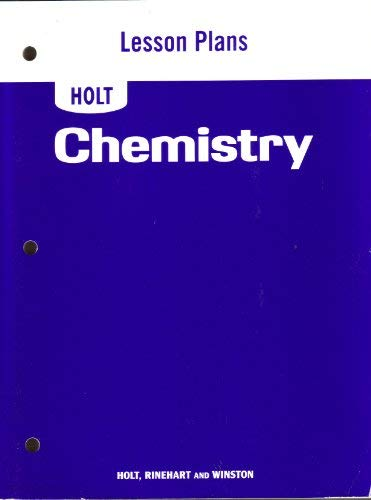 9780030413087: Lesson Plans for Holt Chemistry