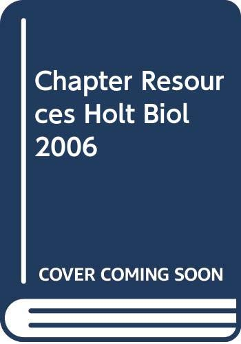 9780030413179: Chapter Resources Holt Biol 2006