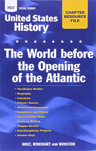 9780030413421: United States History: Beginnings to 1877: Chapter Resource Files with Answer Key