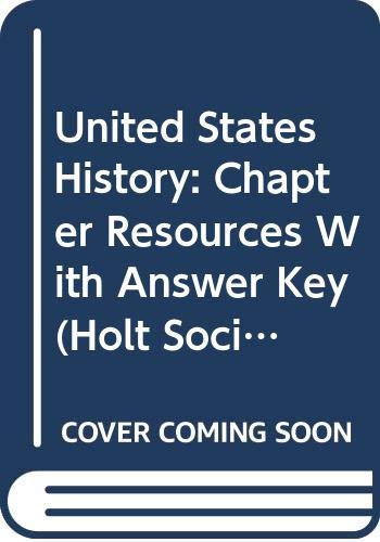 9780030413445: Holt Social Studies: United States History- Chapter Resource Files with Answer Keys