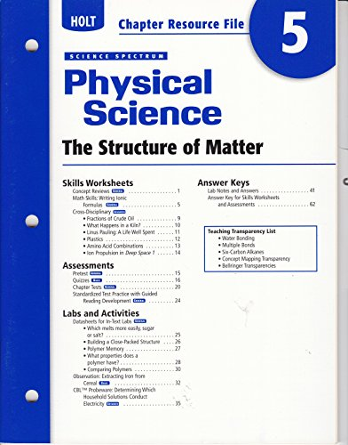 Staff Chapter Resource File Science AbeBooks