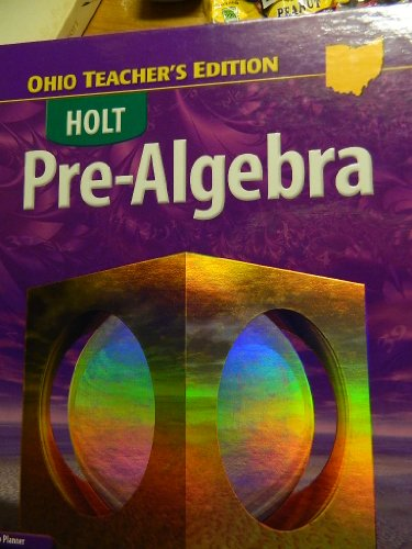 9780030416279: PRE ALGEBRA OHIO TEACHER'S EDITION (HOLT, OHIO)