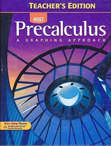 9780030416484: Precalculus: A Graphing Approach (Teacher's Edition)