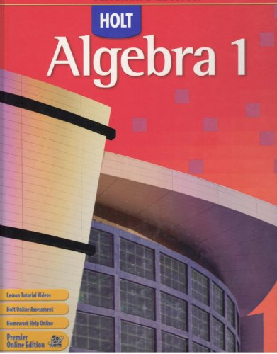 9780030416590: Holt Algebra 1, Teacher's Edition, Texas Edition, 9780030416590, 0030416590, 2007
