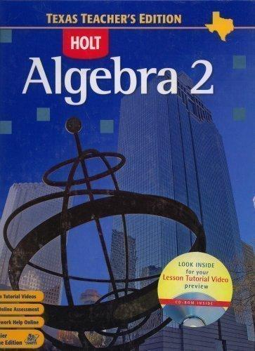 9780030416675: Algebra 2 Texas Teacher's Edition
