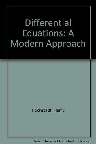 9780030416705: Differential Equations: A Modern Approach