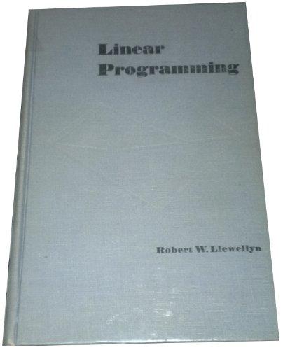 9780030416903: Linear Programming