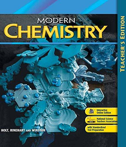 Florida Teacher's Edition Modern Chemistry: WINSTON, HOLT RINEHART