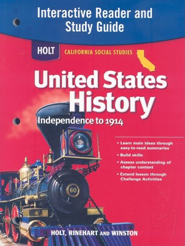 9780030418525: Holt United States History: Interactive Reader Study Guide Grades 6-8 Beginnings to 1914