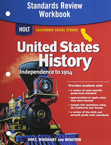 9780030418532: Holt United States History California: Standards Review Workbook Grades 6-8 Beginnings to 1914