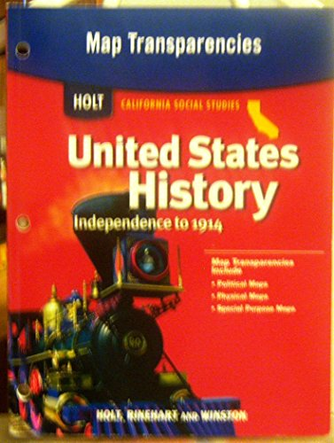 9780030418648: Holt United States History California: Map Overhead Transparencies Grades 6-8 Beginnings to 1914