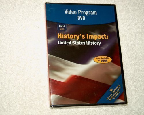 9780030418778: United States History: History's Impact: United States History Video Program DVD