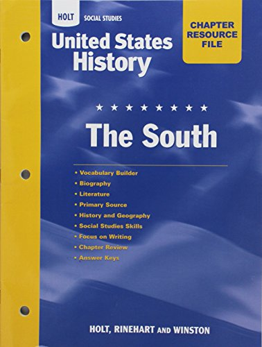 9780030419034: Crf the South Hss: Us Hist 2006