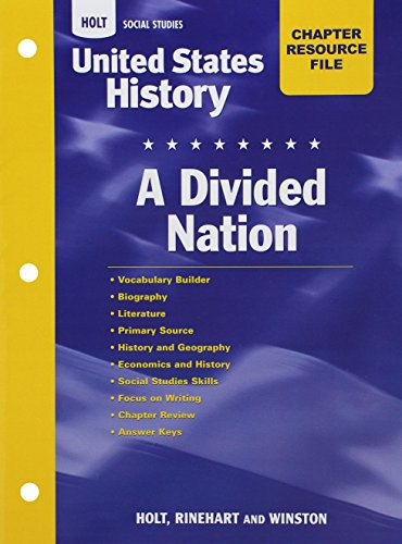 9780030419072: Crf Divided Nation Hss: Us Hist 2006