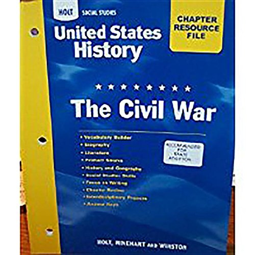 9780030419089: United States History: The Civil War (Chapter Resource File)