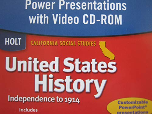 9780030419188: United States History Power Presentations with Video CD-ROM (California Social Studies, Independence to 1914)