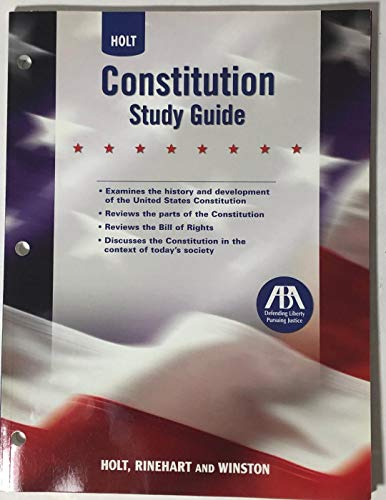 9780030419225: Constitution Study Guide