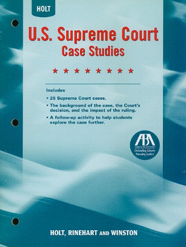 9780030419249: United States History: US Supreme Court Case Studies