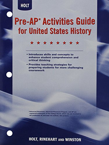 9780030419287: Pre-AP Activities Guide for United States History, Grades 6-8