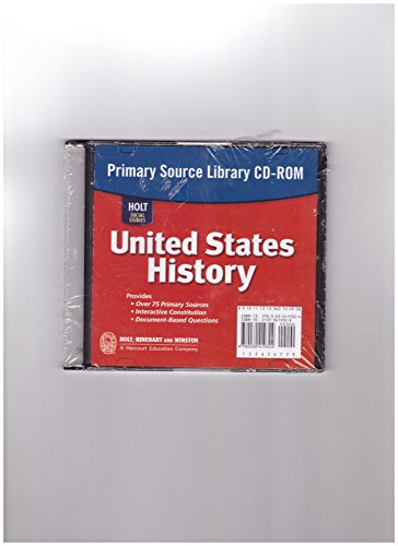 9780030419324: Holt Social Studies: United States History: Primary Source Library CD-ROM