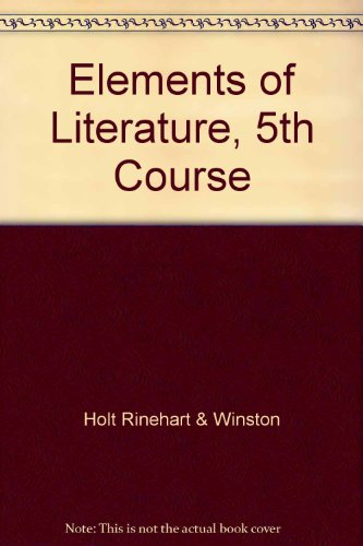 9780030419591: Elements of Literature, 5th Course
