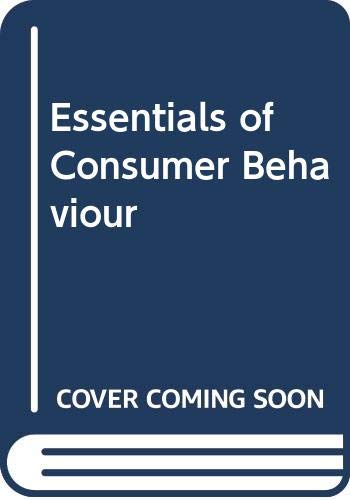 Essentials of Consumer Behaviour (The Dryden Press: Block, Carl E.,