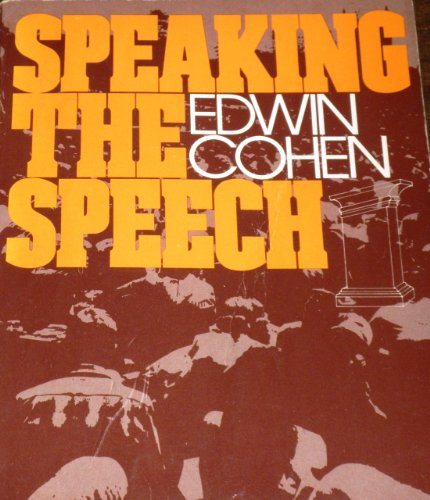 9780030420016: Speaking the speech