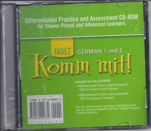 9780030420832: Komm mit!: Differentiated Practice Assessment CD-ROM Levels 1-2