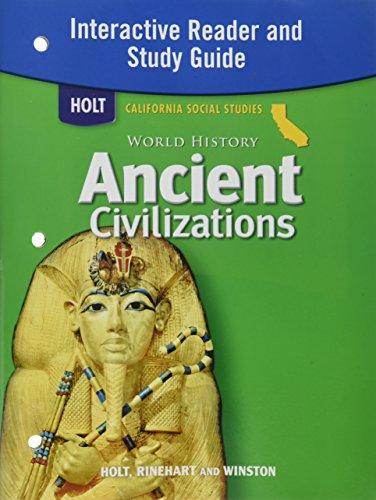 9780030420887: Holt World History California: Interactive Reader and Study Guide Grades 6-8 Ancient Civilizations
