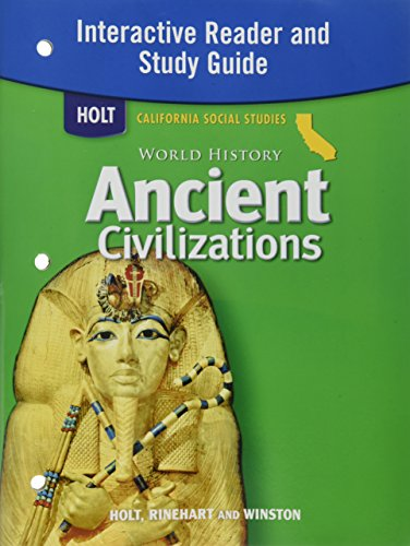 9780030420887: Interactive Reader and Study Guide (Holt California Social Studies, World History: Ancient Civilizations)