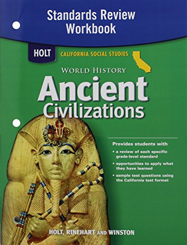 9780030420924: Holt World History California: Standards Review Workbook Grades 6-8 Ancient Civilizations