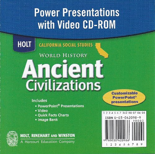 9780030420986: Power Presentations with Video CD-ROM (Holt California Social Studies World History Ancient Civilizations)