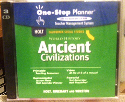 9780030420993: Ancient Civilizations One-Stop Planner CD-ROM Set (World History)