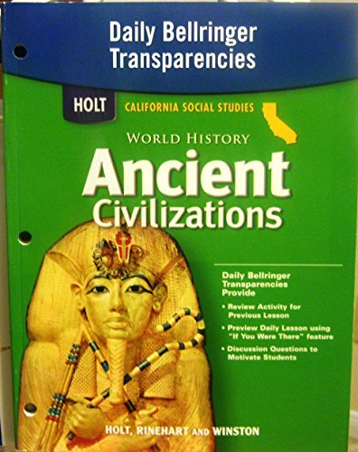 9780030421037: Daily Bellringer Transparencies (Holt California Social Studies, World History: Ancient Civilizations)