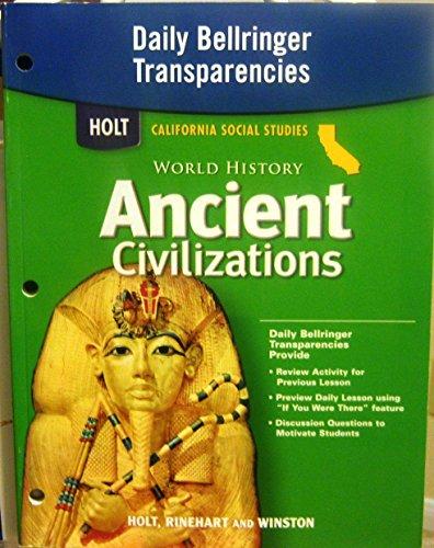 9780030421037: Holt World History Ancient Civilizations California: Daily Bellringer Transparencies Grades 6-8
